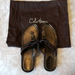 Cole Haan Nike Air Leather Sandals,  size 12 women